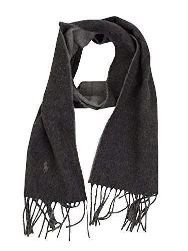 Men's Polo Ralph Lauren Grey Heather/Medium Grey Classic Reversible Scarf by Polo Ralph Lauren