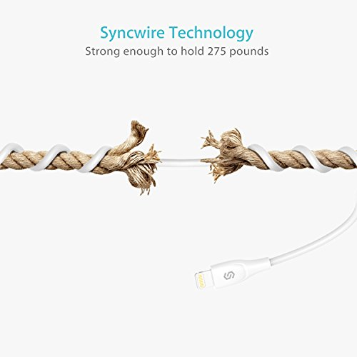 iPhone Charger Syncwire Lightning Cable - [Apple MFi Certified] UNBREAKcable Series for iPhone X, 8, 8 Plus, 7, 7 Plus, 6S, 6S Plus, 6, 6 Plus, SE, 5S, 5C, 5, iPad Mini, iPad Air, Pro - 3.3ft White by Syncwire (Image #6)