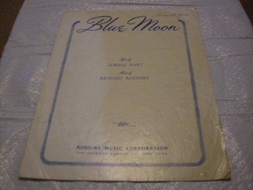 Blue Moon (Blue Moon Piano Sheet)