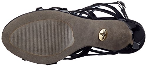 Con black Para Pulsera Sandalia Mujer Negro 317 Buffalo Pu Patent 2933 01 wqXUcAv