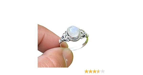 svr4633 925 Sterling Silver Handmade Designer Solid Ring Jewelry Size US 8.5 Elegant Moonstone Round Shape Gemstone Ring For Christmas