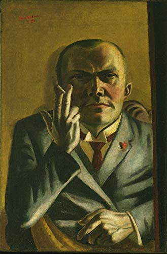 Max Beckmann Self Portrait with a Cigarette - Film Movie Poster - Best Print Art Reproduction Quality Wall Decoration Gift - A4 Poster (11.7/8.3 inch) - (30/21 cm) - Glossy Thick Photo Paper