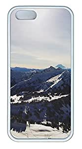 iPhone 5 5S Case landscapes nature snow mountains 38 TPU Custom iPhone 5 5S Case Cover White