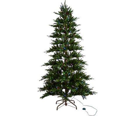 ED On Air Santa's Best 7.5' Rustic Spruce Tree by Ellen Degeneres