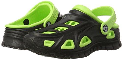AQUA-SPEED Miami Kinder Badeschuhe / Clogs - sehr leicht schwarz/grün