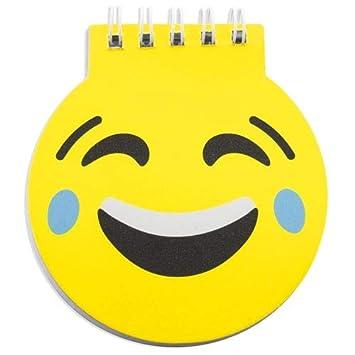 Lote de 50 Libretas Infantiles Emoticonos - Libretas Originales Emojis, Diseño Divertido Regalos prácticos para niños colegios, cumpleaños, Bodas y ...