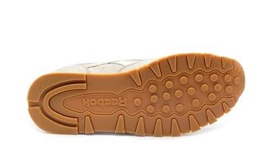 5c3a5de2d2a008 Reebok Classic Leather TL (Beige Weiß)  Amazon.de  Schuhe   Handtaschen
