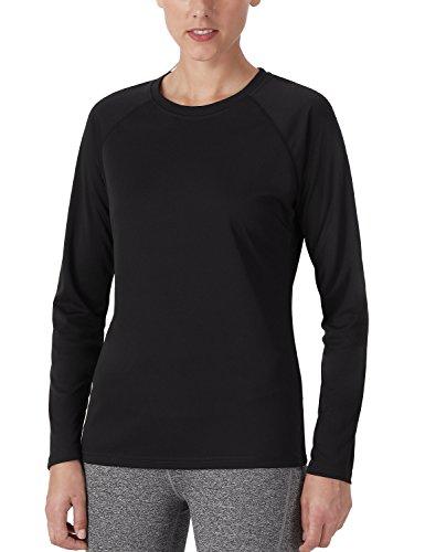NAVISKIN Women's Sun Protection UPF 50+ UV Outdoor Long Sleeve T-Shirt Black Size S ()