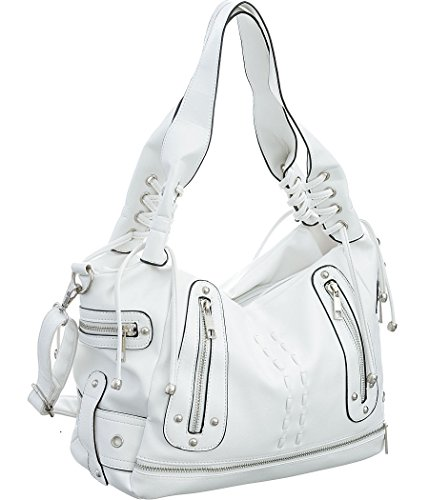 White Hobo Handbags - 5