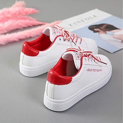 poliuretano Da Winter Comfort Scarpe Verde Zhznvx Pu Red Punta Donna Nero Rotonda Sneakers rosso TIZxwq5