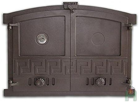 Horno para puerta de hierro fundido (600x 430del Horno para puerta, piedra horno Puerta 720027