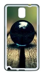 Black Ball Custom Design Samsung Galaxy Note 3 / Note III/ N9000 Case Cover - Tpu - White