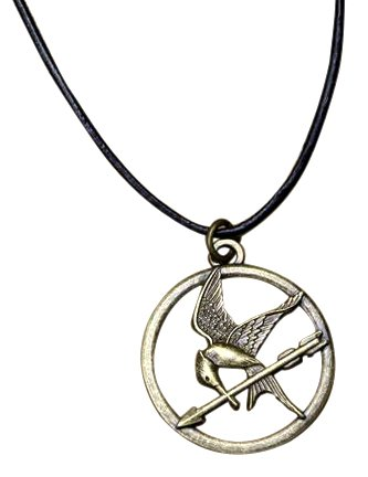 NECA The Hunger Games Movie Mockingjay Pendant on Leather Cord]()