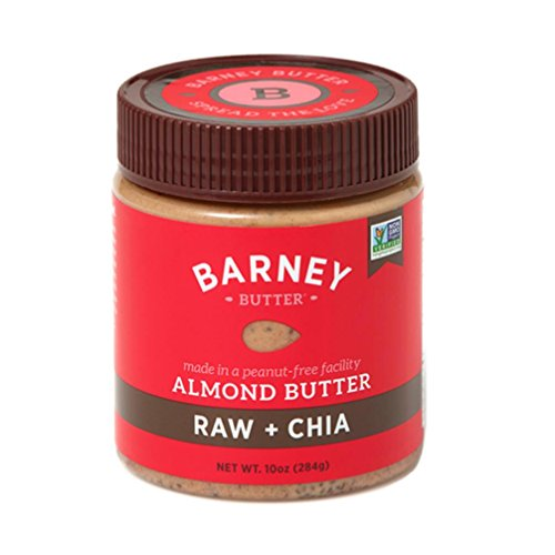 Barney Butter Almond Butter, Raw + Chia, 10 (Raw Almonds Blanched Organic)