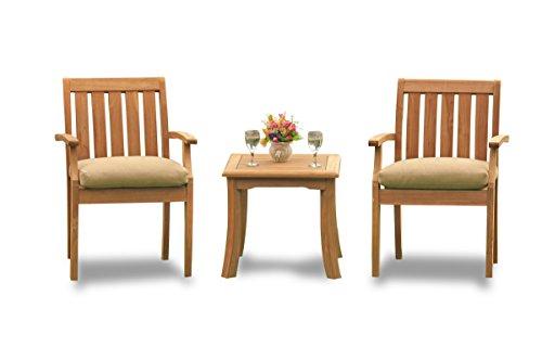 (TeakStation 2 Seater Grade-A Teak Wood 3 Pc Dining Set: 21