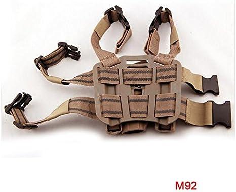 H World EU la t/áctica de la pierna derecha Rame Airsoft mano Funda Cintur/ón Negro para el M9/M92