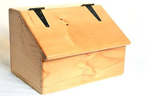 Fabian Woodworks Storage Box - Wooden - Sloping Top - Hinged Lid - Rubbed ()