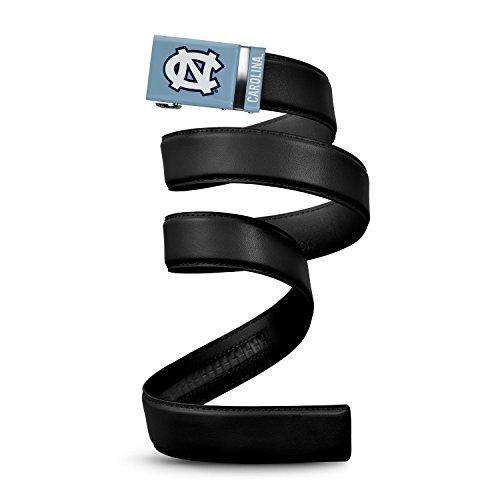 North Carolina Black Leather - NCAA North Carolina Tar Heels Mission Belt, Black Leather, Extra Large (up to 42)