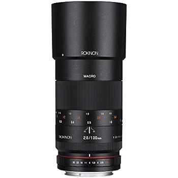 Rokinon 100mm F2.8 ED UMC Full Frame Telephoto Macro Lens for Canon EF Digital SLR Cameras