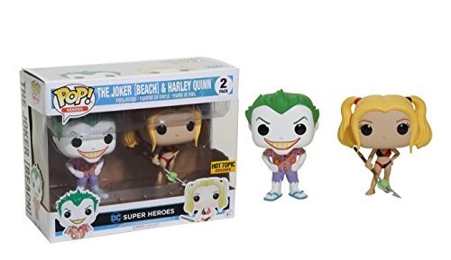 (Funko DC Comics Pop! Heroes The Joker (Beach) & Harley Quinn Vinyl)