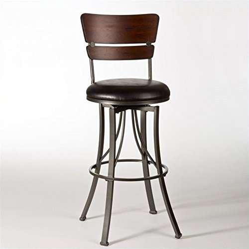Hillsdale Furniture 5097-830 Santa Monica Swivel Bar Stool in (Hillsdale Leather)