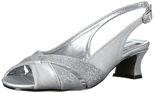 Easy Street Womens Ariel Dress Pump Argento Satinato / Glitter