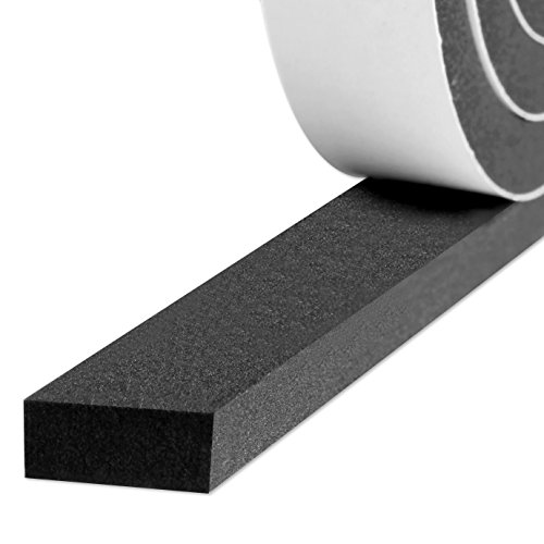 Weatherstrip Adhesive, Foam Insulation Tape High Density Soundproofing Insulation Seal Strip Door Weather Stripping 3/4 Inch Wide X 5/16 Inch Thick X 13 Feet Long (3/4in 5/16in)