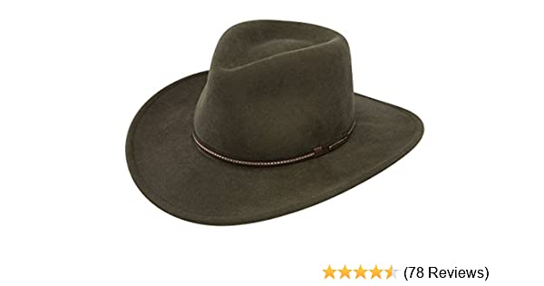 3d80ec904da1e Stetson Gallatin Crushable Wool Felt Hat at Amazon Men s Clothing store