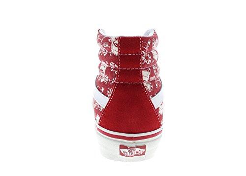 Vans Unisex Sk8-Hi 38 50th Reissue Red Canvas Skate Shoe 7.5 YGcuxI2o