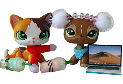 lpsloverqa Lot Shorthair Cat Elk Heart Green Eyes Mascow Kitty Kitten with Accessories Kit Girls Kids Xmas Gift Set (Customs Lps Christmas)