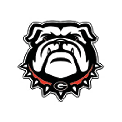 "Craftique Georgia Bulldogs New Bulldog Decal - 6"" : Automotive Decals : Sports & Outdoors"