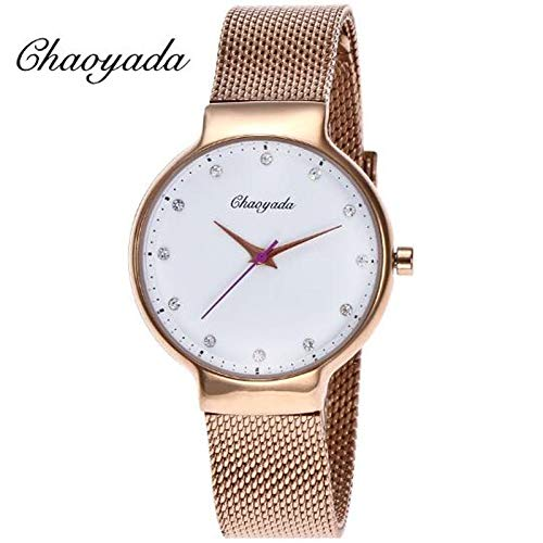 Chaoyada 2019 Luxury Brand Women Watches Quartz Casual Watch Stainless Steel Mesh Strap Ultra Thin - Jewelry Quartz Watch Watch 2019 Women39;s Watch Thin Kid Watches ()