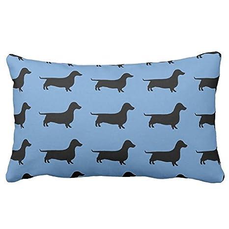 Silueta de perro salchicha acero azul o cualquier color. Cojín 20In * 30-in
