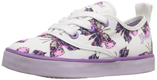 Price comparison product image Geox J Ciak Girl 43 Sneaker (Toddler/Little Kid/Big Kid), White/Lilac, 33 EU (2 M US Little Kid)