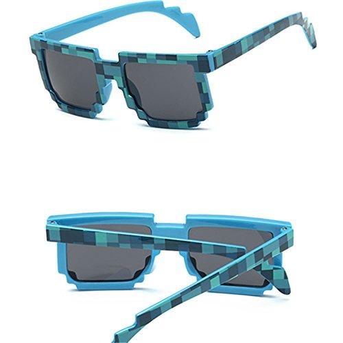 sol sol Borgoña 3 de moda Cuadrado gafas de novedad gafas sol unisex de de mosaico gafas GGSSYY gafas pixel bebé S8UTq