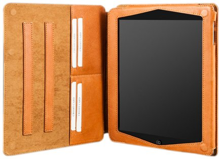 Camalen Vision Folio Genuine Leather Case for iPad 4, Coral (VFolio-C)