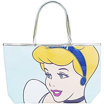 Amazon.com  Disney Cinderella Princess Blue Glitter Tote Handbag for ... 11f172147290a