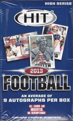 Sage Autograph Football Hobby Box (2013 Sage Hit High Football Factory Sealed Hobby Box - 9 autos In Stock!)