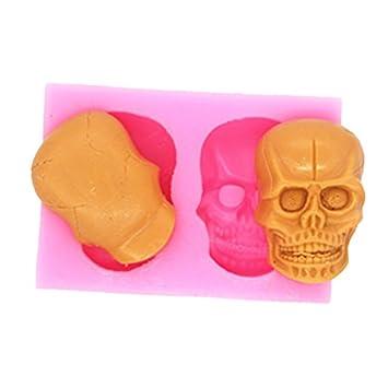 DIY 3d calavera Halloween molde de silicona decoración de ...
