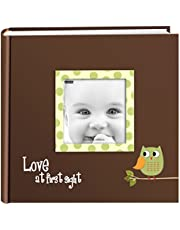 Pioneer Photo Albums EV-246FB/OG 200-Pocket Baby Owl Printed Designer Frame Cover Photo Album, Green
