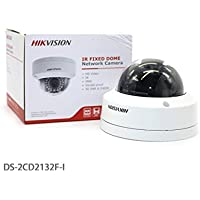 Hik vision DS-2CD2 132F-I 4mm 3MP Fixed Dome Network Camera POE IR Day/Night Vision Indoor Security Surveillance IP CCTV Camera(English Retail Version)