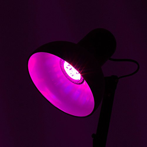 BINZET E27 5W Plants Grow Lights Red&Blue Color LED Lights for Plants Growing in Garden Green House - Silver Version