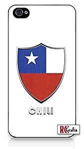 Premium Chili Flag Badge Direct UV Printed iPhone 5C Quality Hard Snap On Case for iPhone 5C - AT&T Sprint Verizon - White Case
