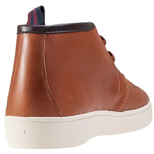 Fred Perry Shields Mid Leather Tan marrón