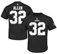 Marcus Allen #32 Oakland Raiders NFL Mens 3 Hit Hall Of Fame Player Shirt Black Big & Tall Sizes