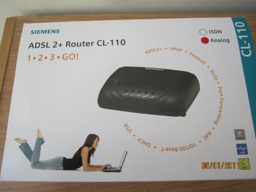 Siemens CL-110 ADSL2+ one port WIRED DSL Modem for Teksavvy Acanac and Ebox