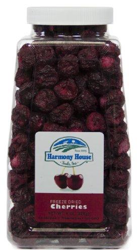 Harmony House Foods Freeze-Dried Cherries, whole (6 oz, Quart Size Jar)