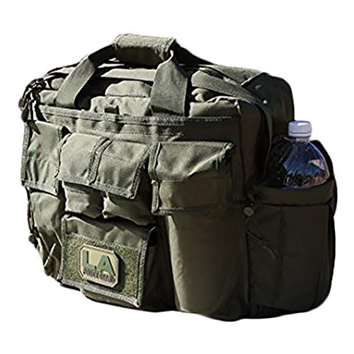 - LA Police Gear Polyester Jumbo Bail Out Bag-GRN