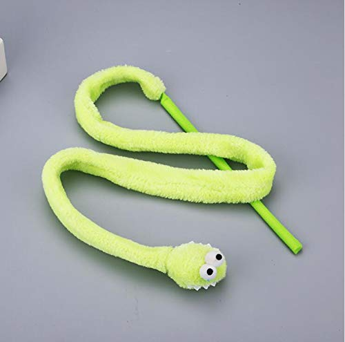 Cat Toys - Cartoon Snake Stick Toy Mint Sound Teaser Plush Interactive Toys Products Funny Pet - Move Motorized Stick Kitten Zanies Puzzle Mouse Filled Only Dental Jump Spirals Ball Geog