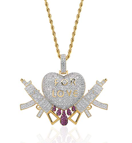 Moca Jewelry Iced Out Scorpion Pendant 18K Gold Plated Bling CZ Simulated Diamond Hip Hop Necklace for Men Women